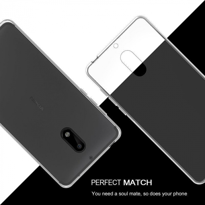 Husa Nokia 6 Silicon TPU extra slim 0.5mm - transparent 2