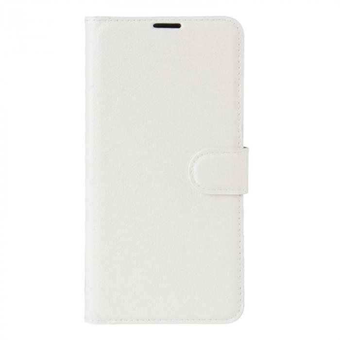 Husa Nokia 5  Crazy Horse flip din piele eco - alb 0