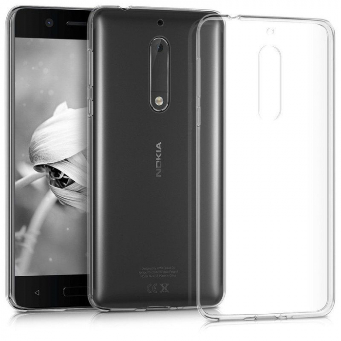 Husa Nokia 5 Silicon TPU extra slim 0.5 mm - transparent 1