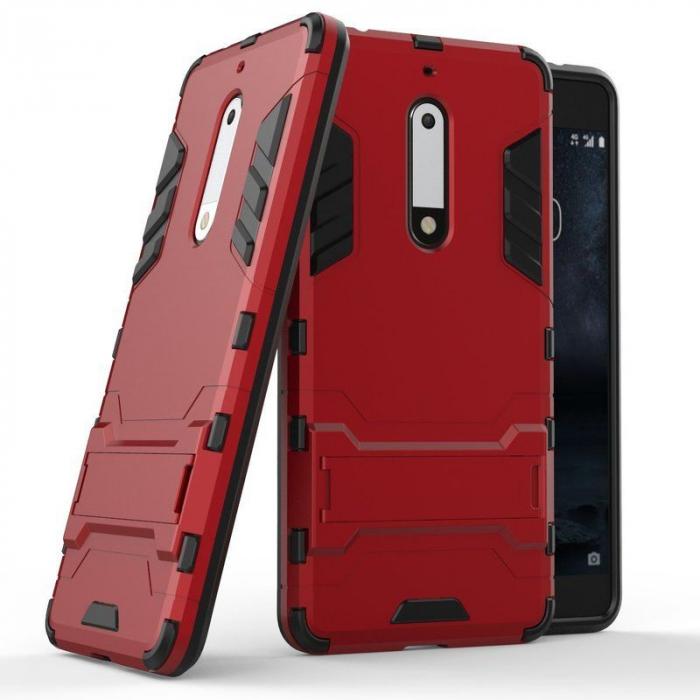 Husa   Nokia 5 Slim Armour Hybrid - rosu 1