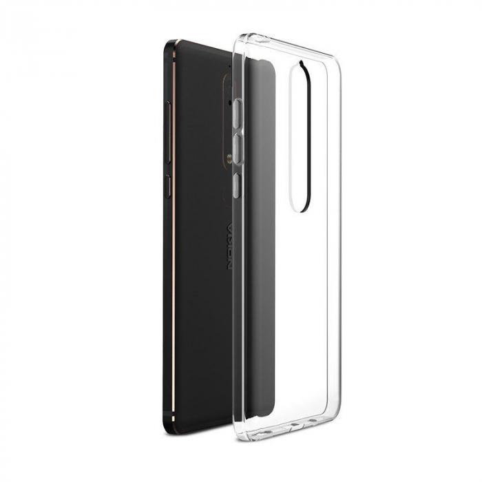 Husa   Nokia 6 (2018) / Nokia 6.1 Silicon TPU extra slim 0.5 mm - transparent 1