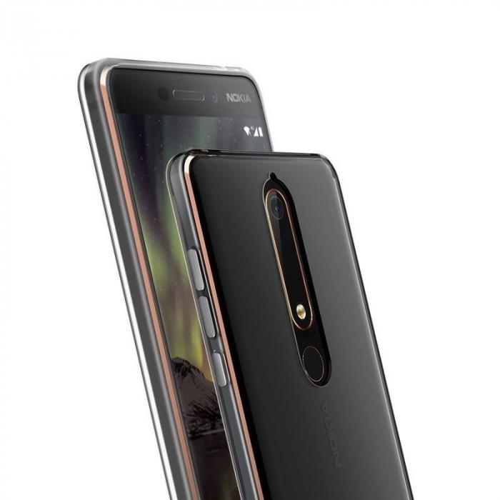Husa   Nokia 6 (2018) / Nokia 6.1 Silicon TPU extra slim 0.5 mm - transparent 5
