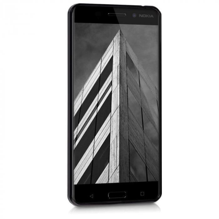Husa  Nokia 6  Silicon Matte TPU extra slim - negru 3