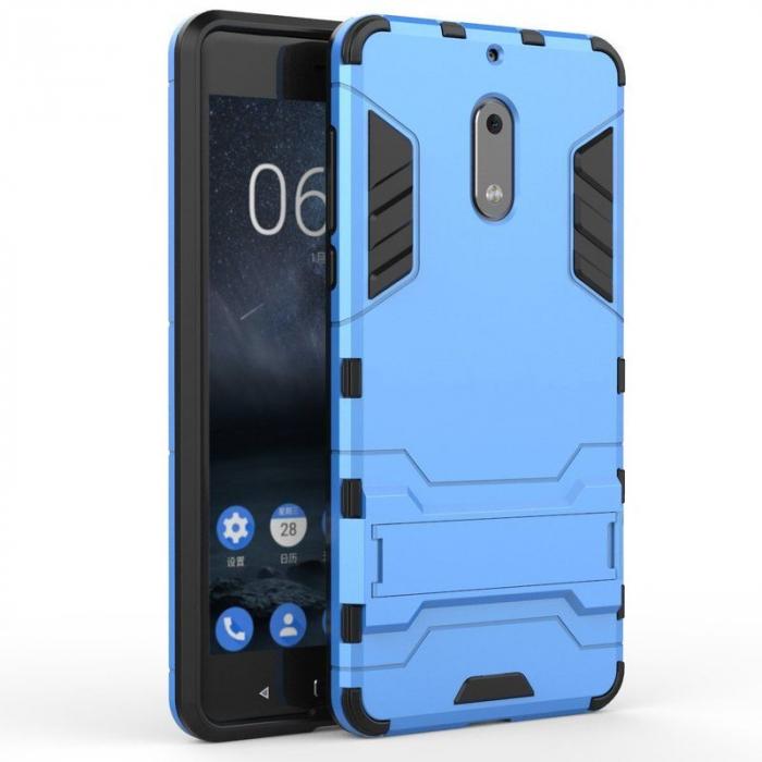 Husa Nokia 6 Slim Armour Hybrid - albastru 0