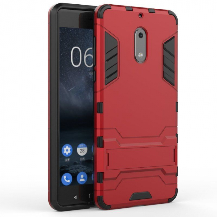 Husa Nokia 6 Slim Armour Hybrid - rosu 0