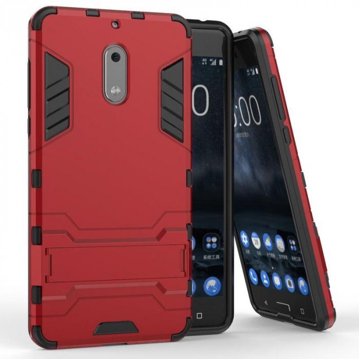 Husa Nokia 6 Slim Armour Hybrid - rosu 1