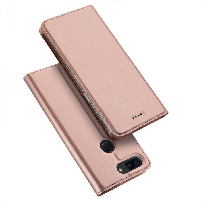 Husa OnePlus 5T - Dux Ducis din piele eco - rose-gold 2