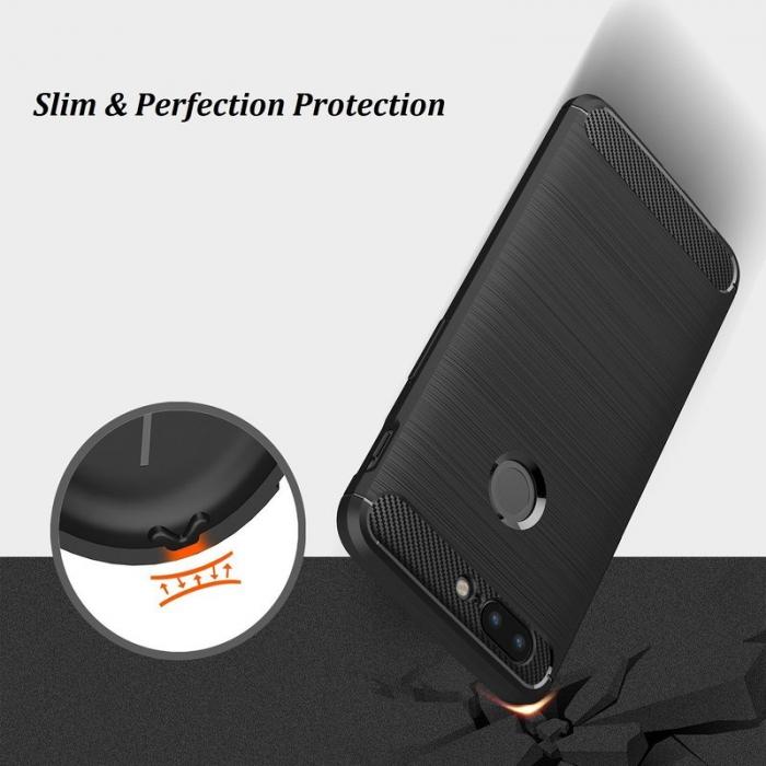Husa OnePlus 5T - Tpu Carbon Brushed - gri 6