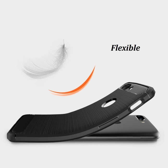 Husa OnePlus 5T - Tpu Carbon Brushed - gri 2