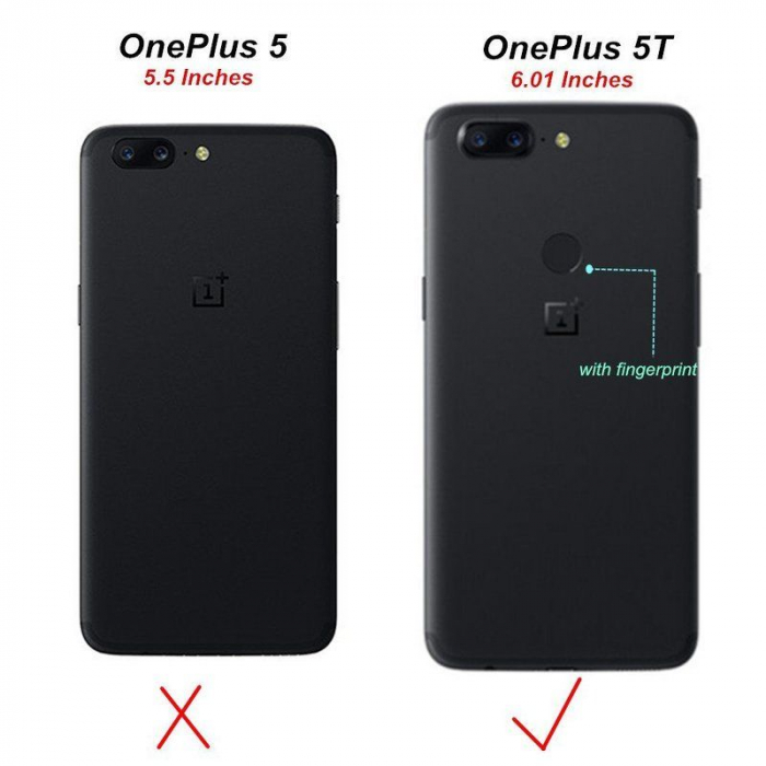Husa OnePlus 5T - Tpu Grain - albastru 8