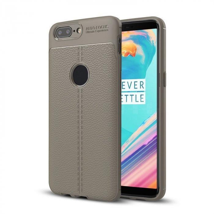 Husa OnePlus 5T - Tpu Grain - gri 0