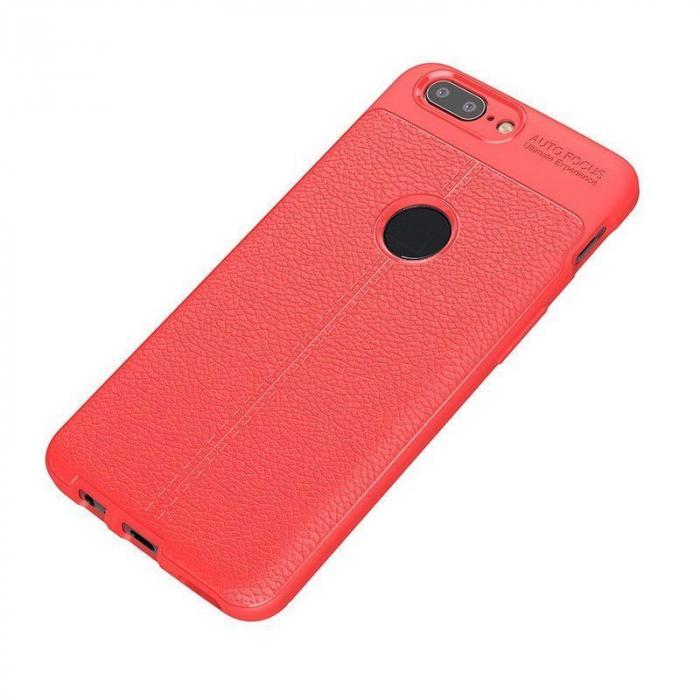 Husa OnePlus 5T - Tpu Grain - rosu 1