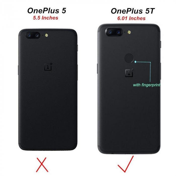 Husa OnePlus 5T - Tpu Grain - rosu 8