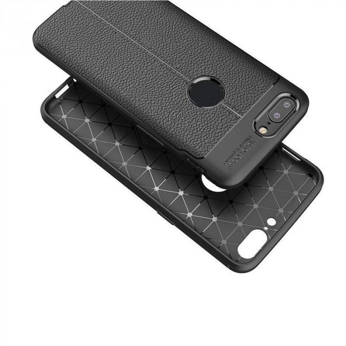 Husa OnePlus 5T - Tpu Grain - rosu 4