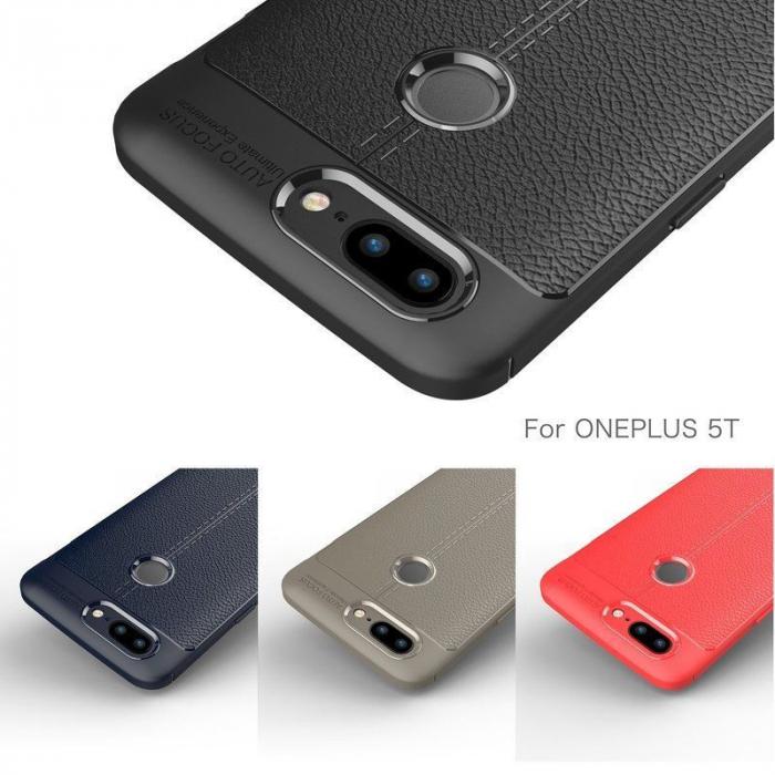 Husa OnePlus 5T - Tpu Grain - rosu 6