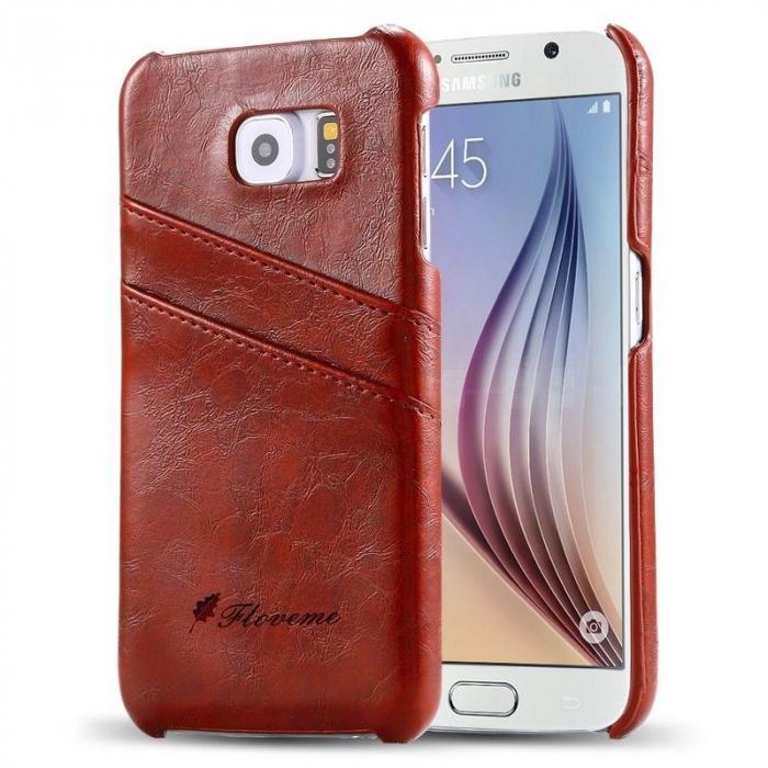 Husa piele Fashion Case  Samsung S6 - maro 0