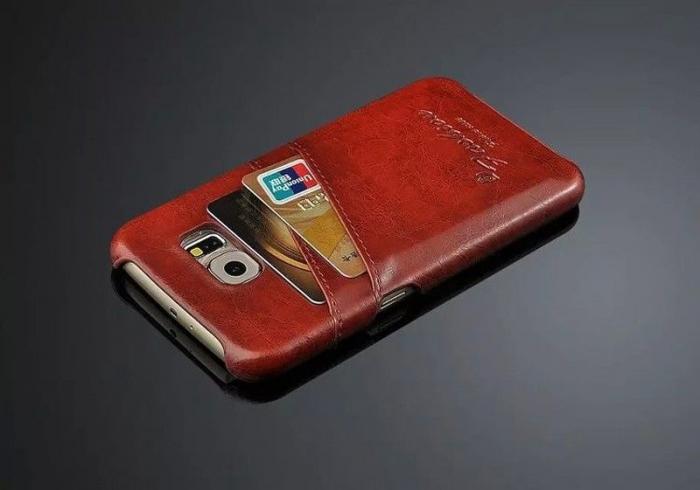 Husa piele Fashion Case  Samsung S6 - maro 1