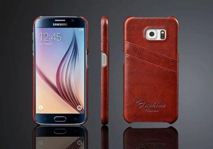 Husa piele Fashion Case  Samsung S6 - maro 3