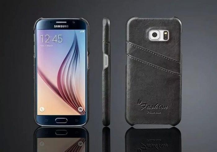 Husa piele Fashion Case  Samsung S6 - negru 1