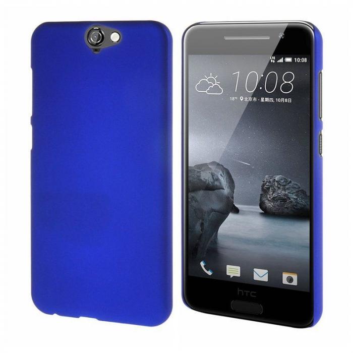 Husa HTC One A9 plastic cauciucat - albastru 6