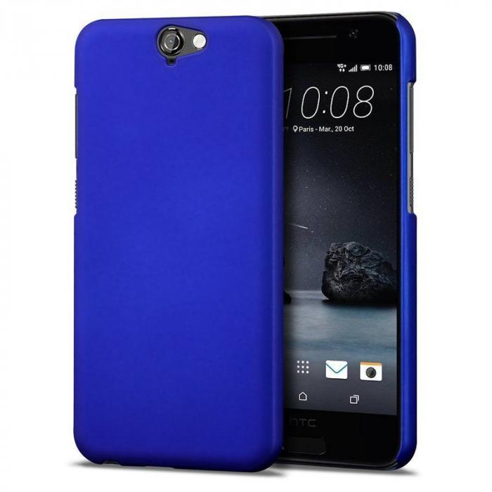Husa HTC One A9 plastic cauciucat - albastru 0