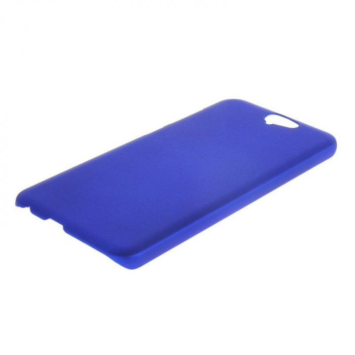 Husa HTC One A9 plastic cauciucat - albastru 3