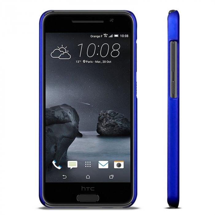 Husa HTC One A9 plastic cauciucat - albastru 5