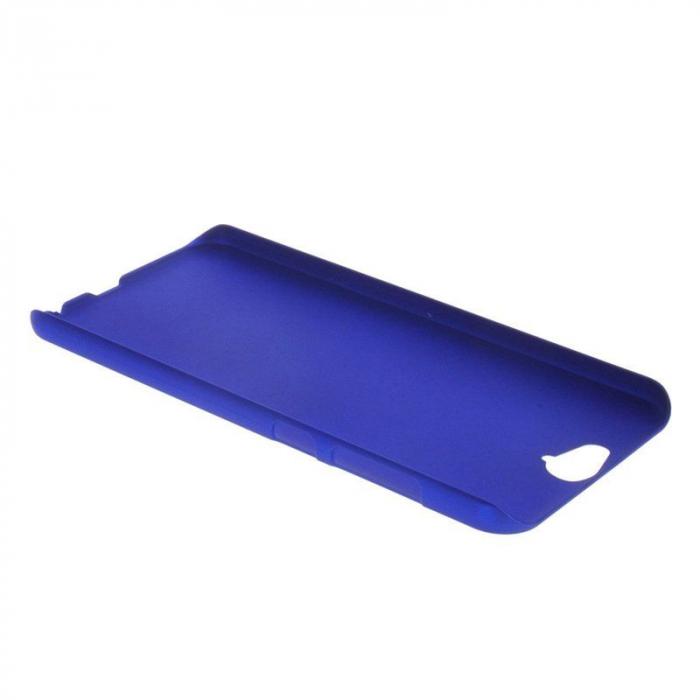 Husa HTC One A9 plastic cauciucat - albastru 1
