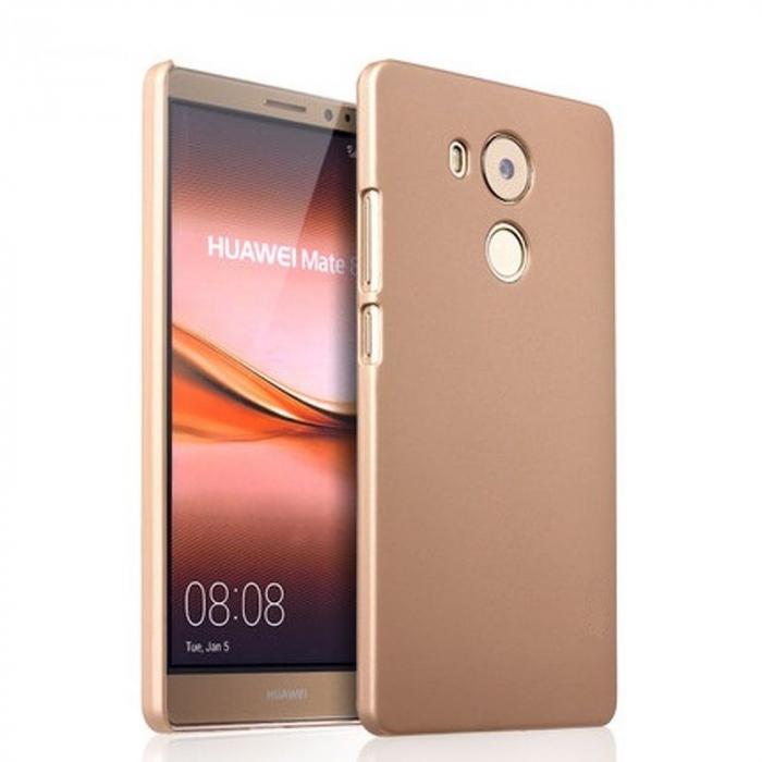 Husa plastic cauciucat Huawei Ascend Mate 8 - gold 0