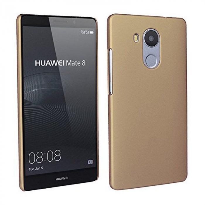 Husa plastic cauciucat Huawei Ascend Mate 8 - gold 2