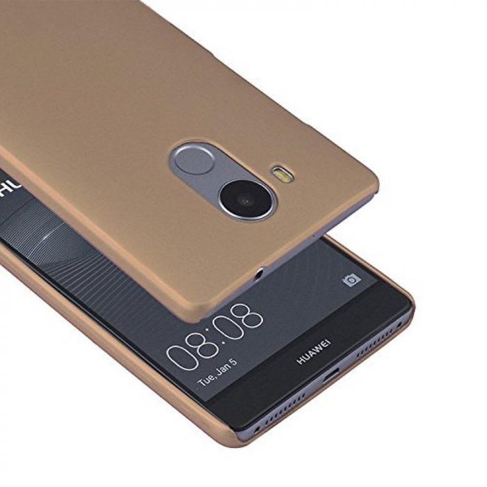Husa plastic cauciucat Huawei Ascend Mate 8 - gold 4