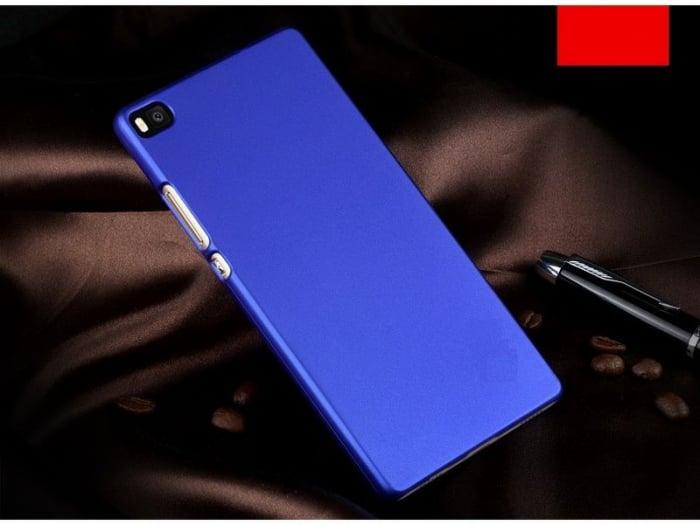 Husa plastic cauciucat Huawei Ascend P8 - albastru 1
