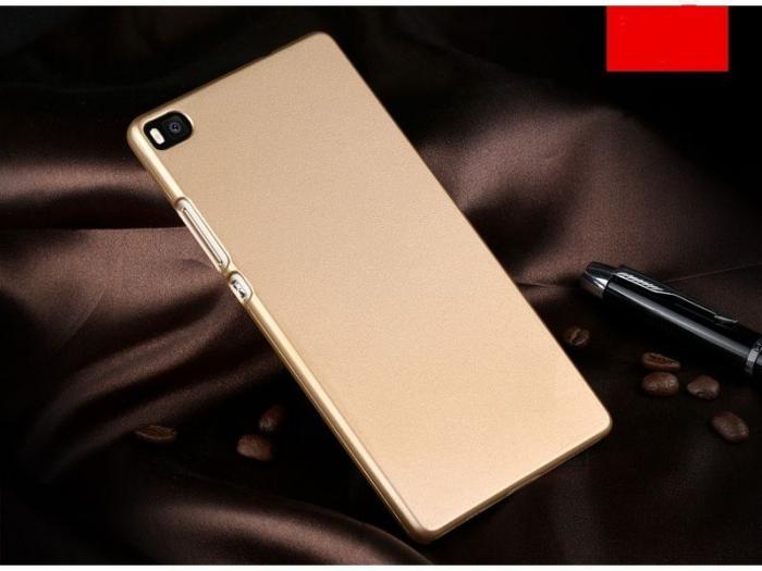 Husa plastic cauciucat Huawei Ascend P8 - gold 1