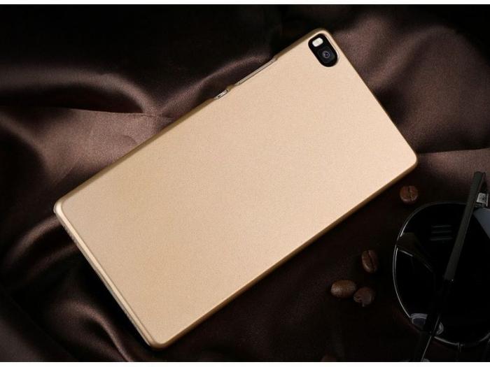 Husa plastic cauciucat Huawei Ascend P8 - gold 2