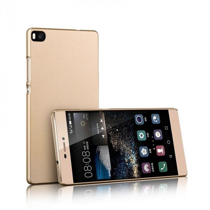 Husa plastic cauciucat Huawei Ascend P8 - gold 0
