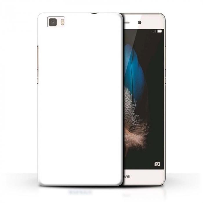 Husa plastic cauciucat Huawei Ascend P8 lite - alb 0
