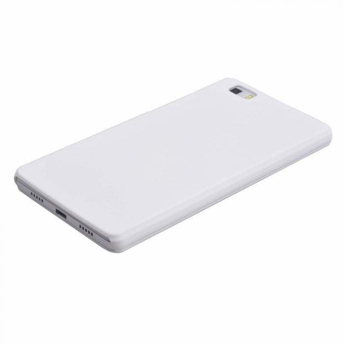 Husa plastic cauciucat Huawei Ascend P8 lite - alb 3
