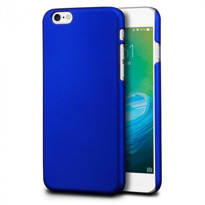 Husa iPhone 6 / iPhone 6s plastic cauciucat - albastru 1