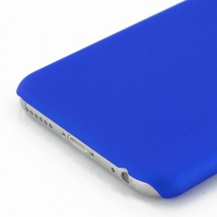 Husa iPhone 6 / iPhone 6s plastic cauciucat - albastru 2