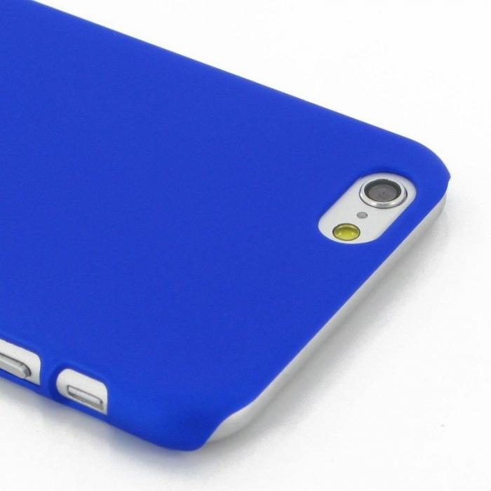 Husa iPhone 6 / iPhone 6s plastic cauciucat - albastru 3