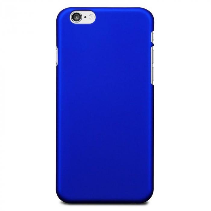 Husa iPhone 6 / iPhone 6s plastic cauciucat - albastru 0