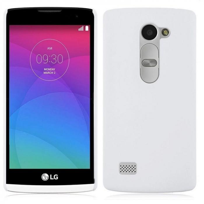 Husa LG Leon plastic cauciucat - alb 0