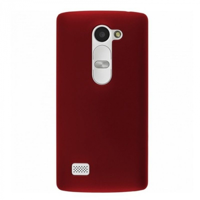 Husa LG Leon plastic cauciucat - rosu 1