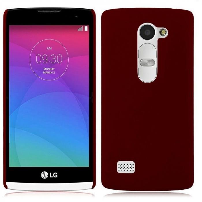 Husa LG Leon plastic cauciucat - rosu 0