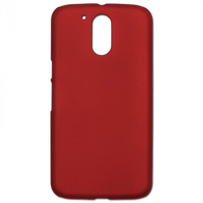 Husa Motorola Moto G4 plastic cauciucat - rosu 1