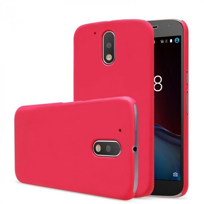 Husa Motorola Moto G4 plastic cauciucat - rosu 0