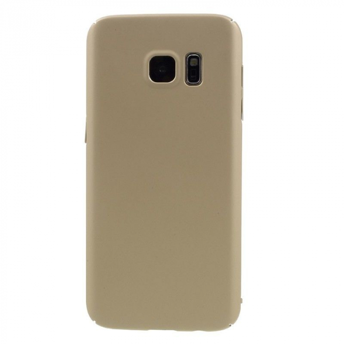 Husa plastic cauciucat Samsung Galaxy S7 - gold 2