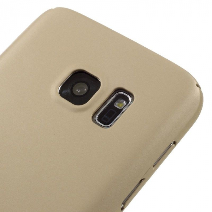 Husa plastic cauciucat Samsung Galaxy S7 - gold 3