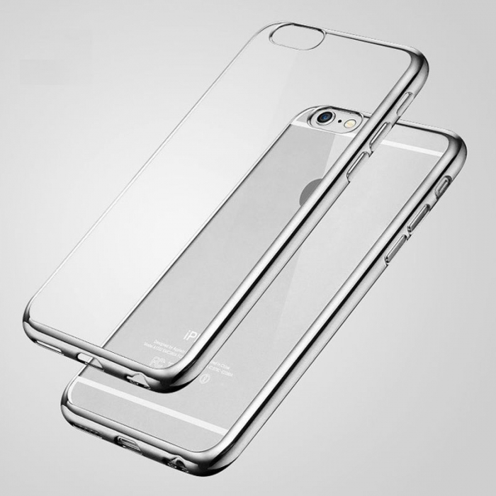 Husa  iPhone 6 / iPhone 6s Plating TPU 0.3 mm - argintiu 1