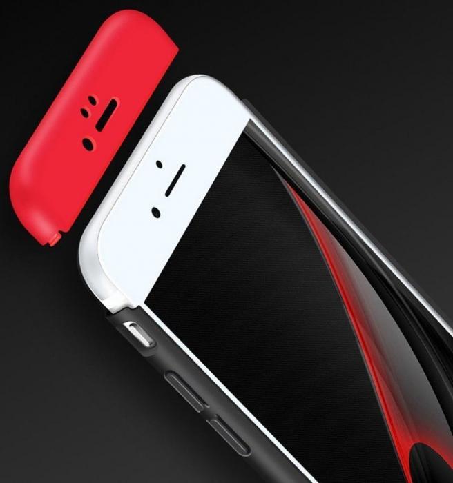 Husa   protectie 360 grade folie sticla inclusa iPhone 7 / iPhone 8 - gold 5